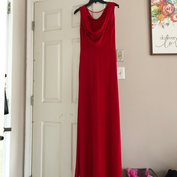 Calvin Klein Dresses Red Evening Dress Poshmark